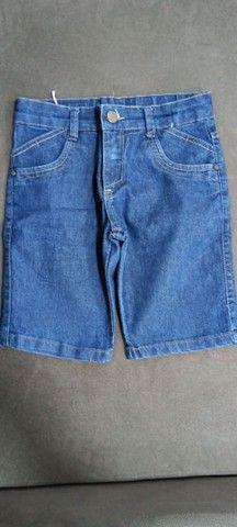 Bermudas jeans e preta infantil