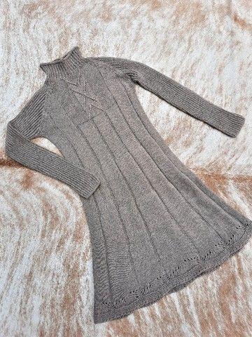 Vestido manga longa de tricot - Foto 4