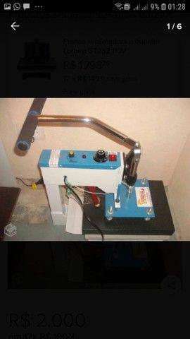 Máquina de estampar camisetas da compacta print - Foto 6