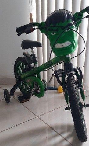 Bicicleta Infantil Do Hulk - Foto 3