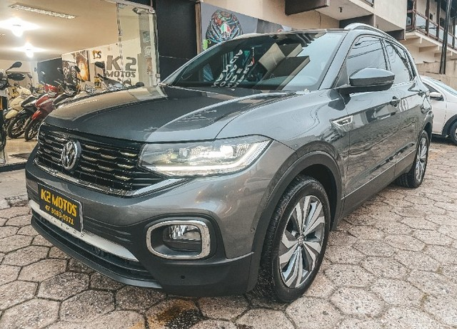 VW T-Cross (2020) Cinza - Versão TOP de Linha Highline com Parl Assist, Som Beats ! - Foto 4