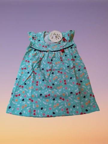 Vestido Bebê Regata Cerejinhas Tam. M Ralakids Ref. 7456 - NOVO - Foto 6