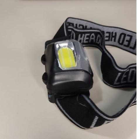 Lanterna Led Ciclope de Cabeça a Pilha Brinde Cadeado Bicicleta