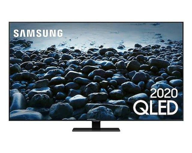 "Samsung Smart TV QLED 4K Q80T 55"", Pontos Quânticos , Borda Infinita. 120 hz Hdmi 2.1."