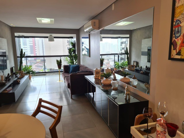 Apartamento na Jatiúca, 84m². 3/4 - 1 suíte, nascente