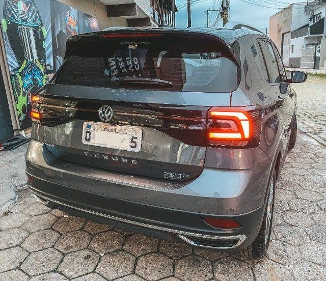 VW T-Cross (2020) Cinza - Versão TOP de Linha Highline com Parl Assist, Som Beats ! - Foto 7