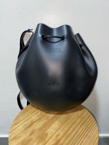 Vendo Bolsa Melissa Sac Bag Preta - Foto 2
