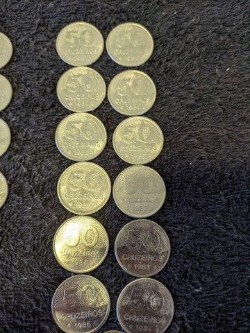 Moedas Cruzeiros de 1, 5, 10, 20 e 50. (1980-1985) - Foto 5