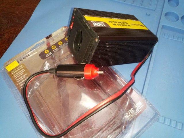 Inversor veicular 12V p/ 220V 150W, com Tomada USB 5V 2,1A. - Foto 2