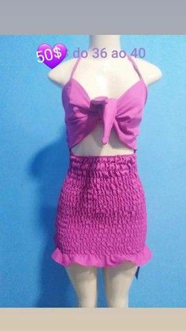 Lindos conjuntos e vestido lastex  - Foto 6