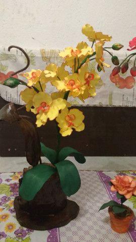 Orquidias e flores em E V A - Foto 5