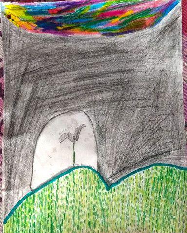 Quadro / desenho  Flor solitária