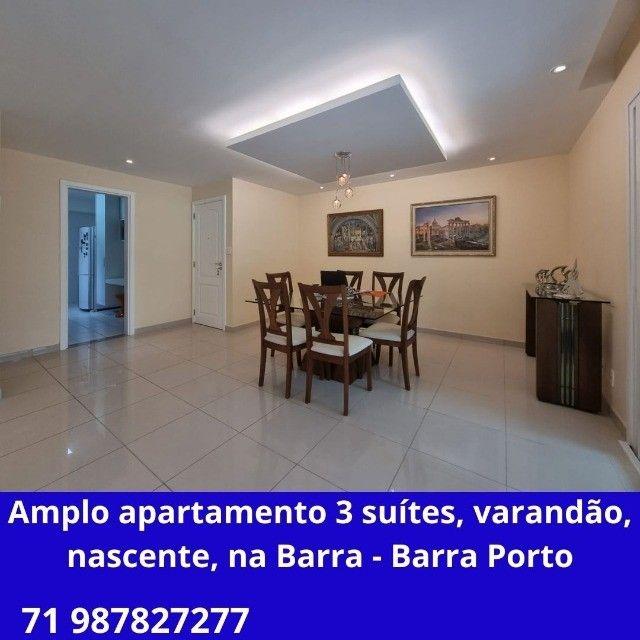 Incrivel apartamento 3 suítes, varanda gourmet, nascente, na Barra