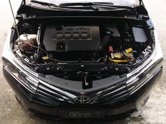 Toyota Corolla 2015 2.0 Xei Preto Flex Automatico Impecavel - Foto 7