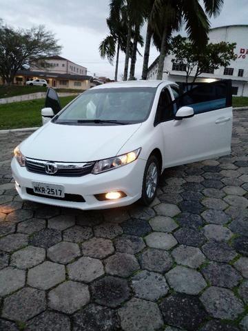 Honda Civic Lxs 1.8 Branco - Baixo KM - Foto 10