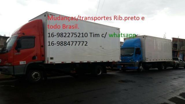 Ligue já mudanças/fretes/carretos ribeirão preto todo brasil