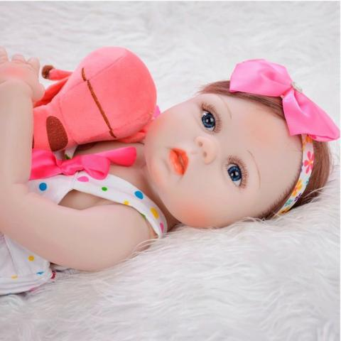 Boneca bebê Reborn Realista Silicone 57cm - Foto 2