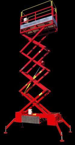 Plataforma elevatória para serviços em altura, plataforma tipo tessoura, - Foto 2