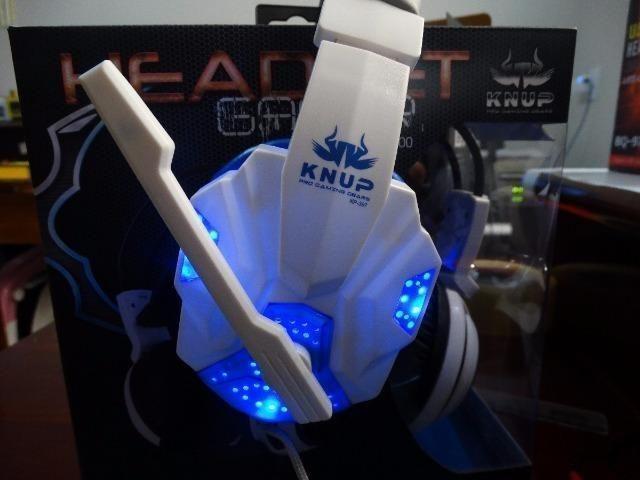 Fone Headset Gamer Led Com Microfone. Compatível:PS3, PS4, Xbox onde, Pc e celulares - Foto 6