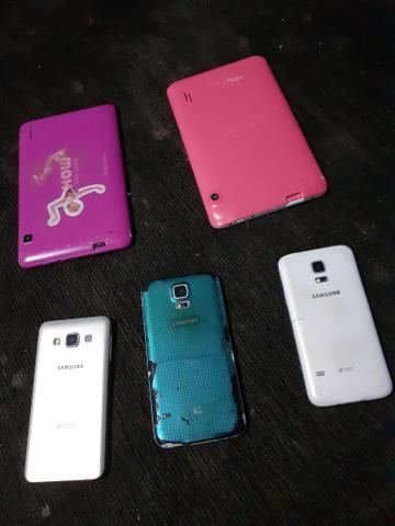 Vendo 3 celulares e 2 tablets quebrados - Foto 2