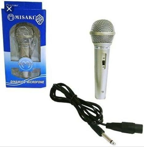 Microfone misaki com cabo - Foto 6