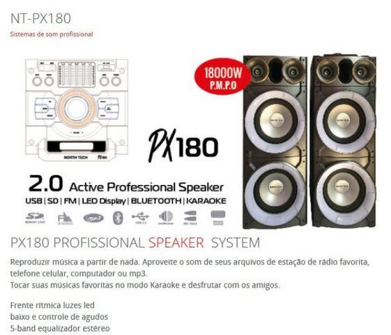Caixa de Som North Tech Modelo PX 180 - Foto 2