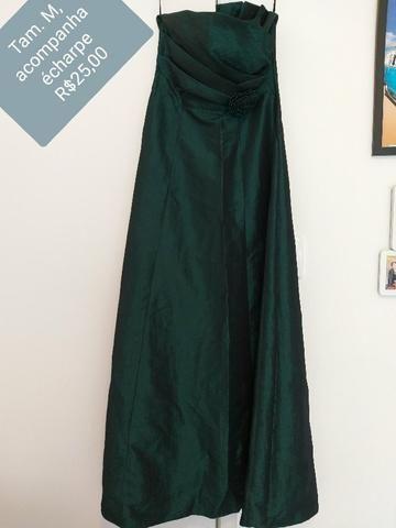 edb9ade29 Vestido longo, verde escuro - Usado só 1 vez! - Roupas e calçados ...