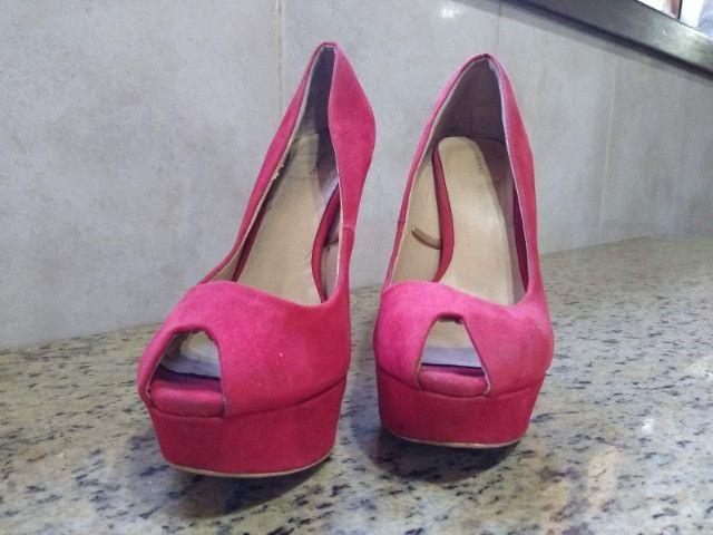 Sandália Salto Zara Basic - Foto 3