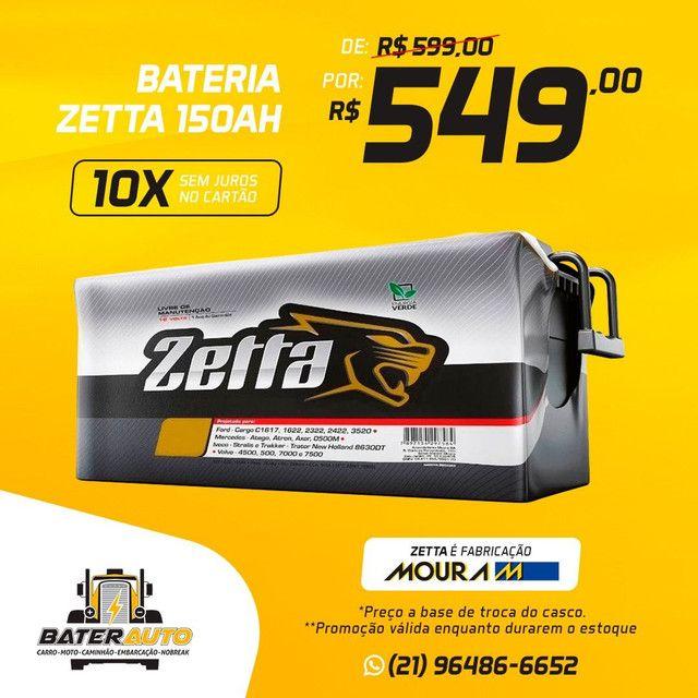 Bateria ZETTA 150ah CAMINHÃO ou som