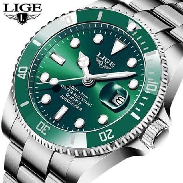 Relógio Masculino Lige 10045 Luxo Original Top Super Oferta - Foto 4