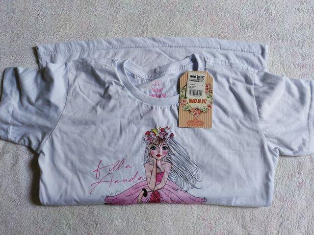 Vendo esta camiseta feminina por 25 reais. Esta baby look. 100%Algodão. Por 32 reais! - Foto 3
