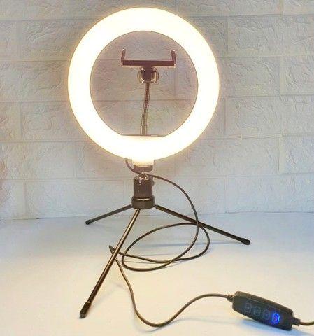 Ring Light Led 20cm + Tripé de mesa  - Foto 4