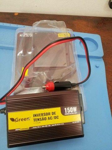 Inversor veicular 12V p/ 220V 150W, com Tomada USB 5V 2,1A. - Foto 3