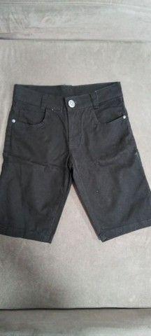 Bermudas jeans e preta infantil - Foto 2