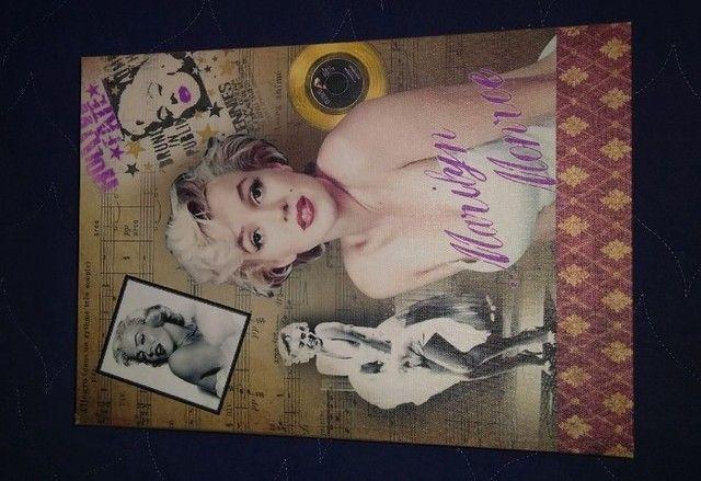 Conj Caixa livro decorativa em Madeira Marilyn Monroe 2 pcs  - Foto 4