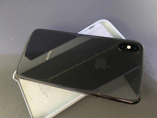 iphone X 10 black preto 256GB impecavel todo original 100% - Foto 5