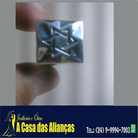 Anel de prata estrela de Davi -   Casa das Alianças