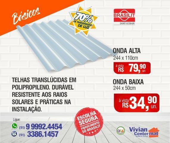 Telha Translúcida Brasilit - Residenciais/Comerciais