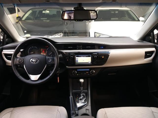 Toyota Corolla 2015 2.0 Xei Preto Flex Automatico Impecavel - Foto 5