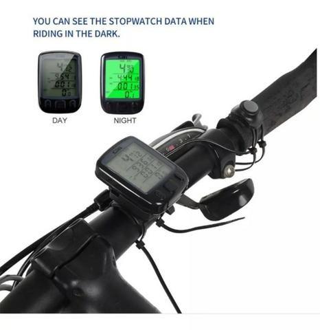 Velocímetro / Odômetro Bike c/ Luz Noturna - Foto 3