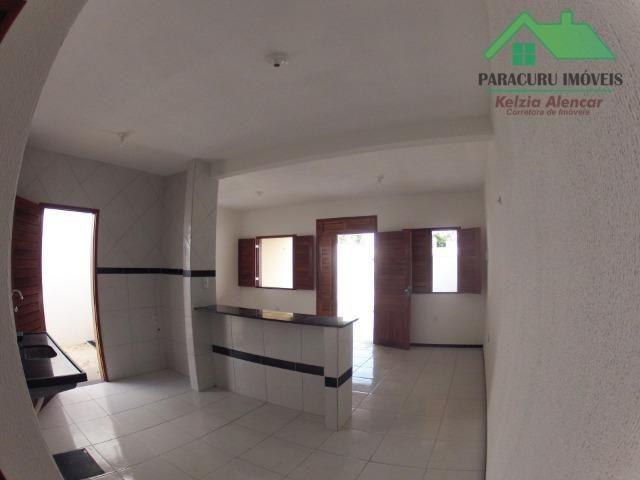 Ampla casa nova de três quartos financiada em Paracuru - Foto 5