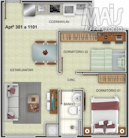 Apartamento para venda em novo hamburgo, centro, 2 dormitórios, 1 banheiro, 1 vaga - Foto 4