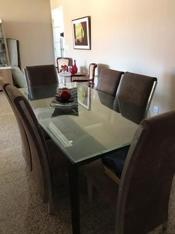 Mesa de Sala Com 6 Cadeiras (Vidro) - Foto 5