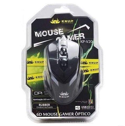 Mouse gamer kp, sensor DPI 2400 e Design totalmente ergonômico - Foto 4