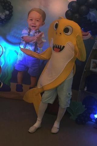 Alugo Mascote do baby shark amarelo adulto - Foto 2