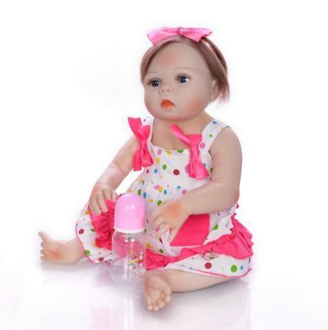 Boneca bebê Reborn Realista Silicone 57cm - Foto 4