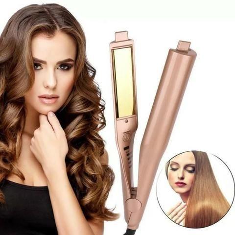 Chapinha Gold Hair Curler 2 Em 1 Alisa E Modela - Foto 2
