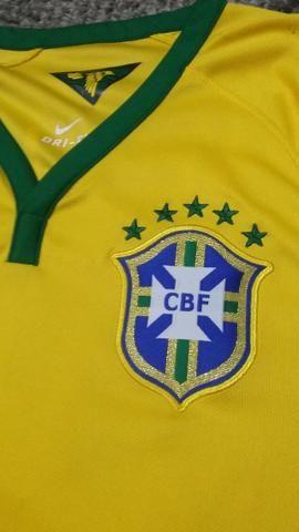 Raridade!! camisa da seleção brasileira 2014 - Foto 5