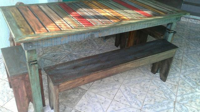 Linda mesa rústica - Foto 3