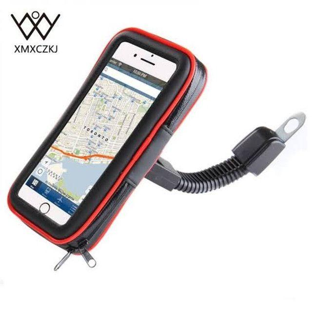 """Suporte Case USB para Carregar Celular para Moto e Bicicleta 360º 6.3"""" - Foto 4"""